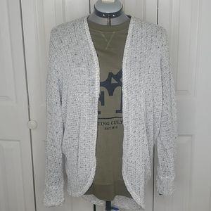 FRESHMAN 1996 Cream Open Front Cardigan Sweater